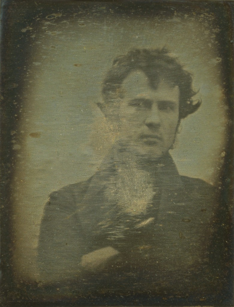 """Selfie"" - Autoportrait of Robert Cornelius, 1839."