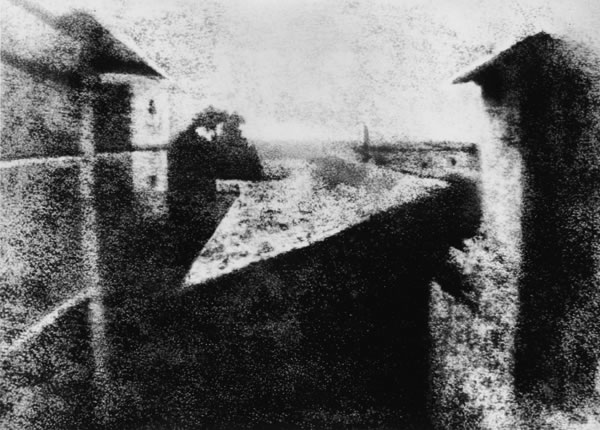 World's First Photograph. Photograph by Joseph Nicéphore Niépce