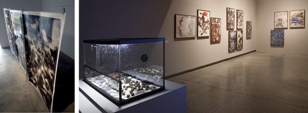 Izquierda: Foto de instalación de Blow up Blow up. Galería Àngels Barcelona, enero 2009 Derecha: Foto de instalación de Gastropoda. ARTIUM, Vitoria, mayo 2013