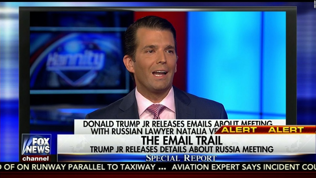 Donald Trump Jr. / Russia emails story on Fox News