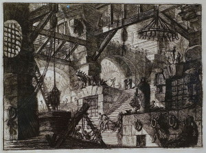"Piranesi, Carceri d'invenzione , no. 13, ""The Well"""