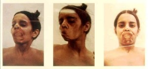 Ana Mendieta, Glass on Body, 1972.