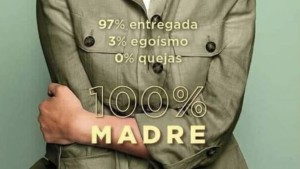 Part of the poster for the 2019 Mother's Day campaign of Spanish department store El Corte Inglés