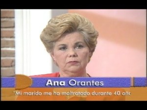 Ana Orantes appearing on Canal Sur, 1997